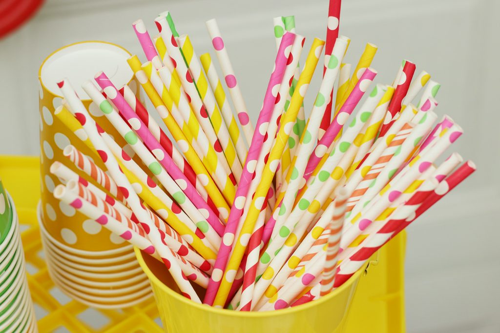 Summer Fruit Party Paper Straws