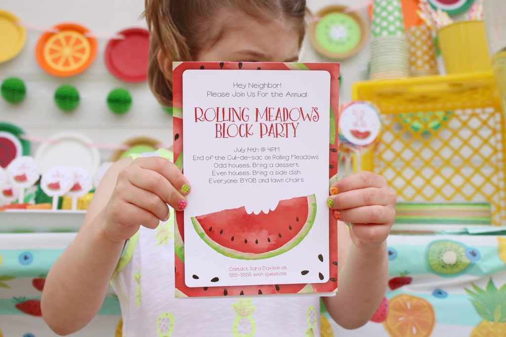 Summer Fruit Party Invites