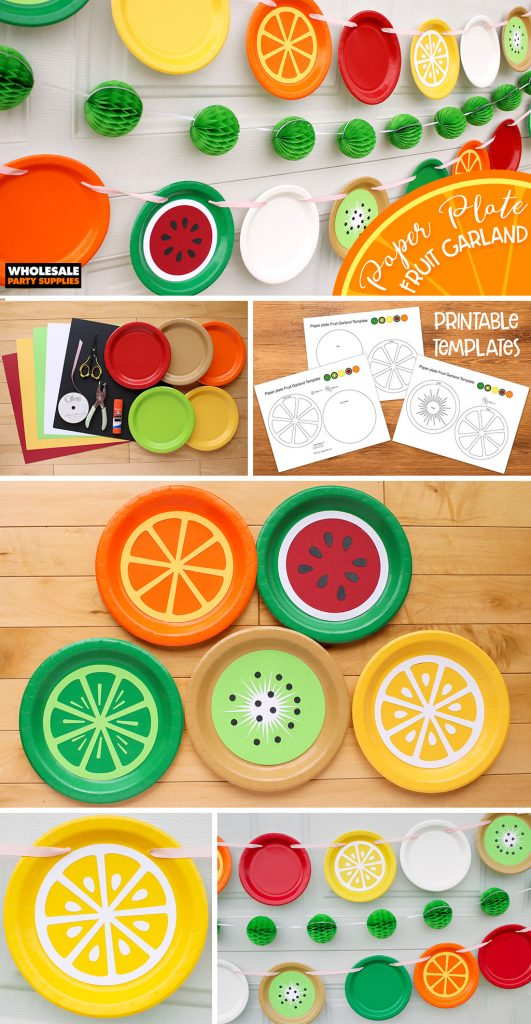DIY Paper Plate Fruit Party Garland Pinterest Guide