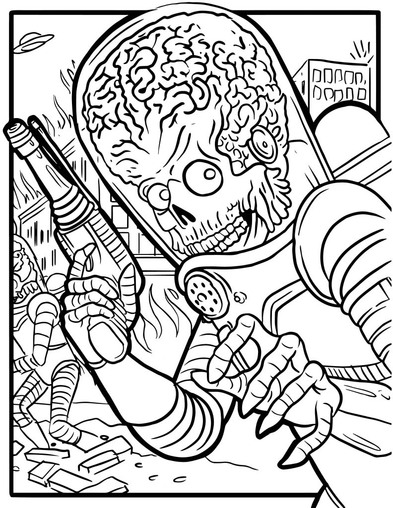 Free Mars Attacks Coloring Pages