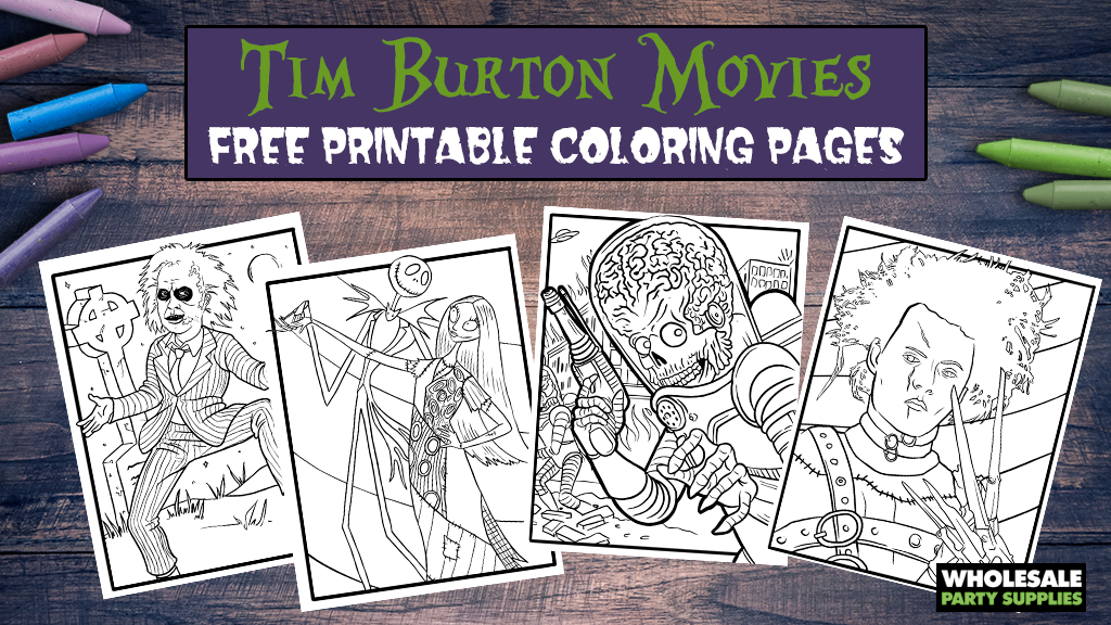 Tim Burton FREE Printable Coloring Pages
