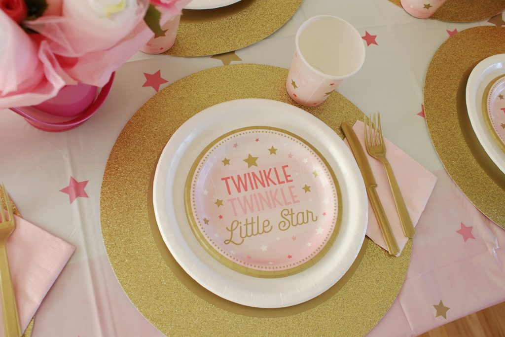 Twinkle Twinkle Pink Baby Shower Tableware