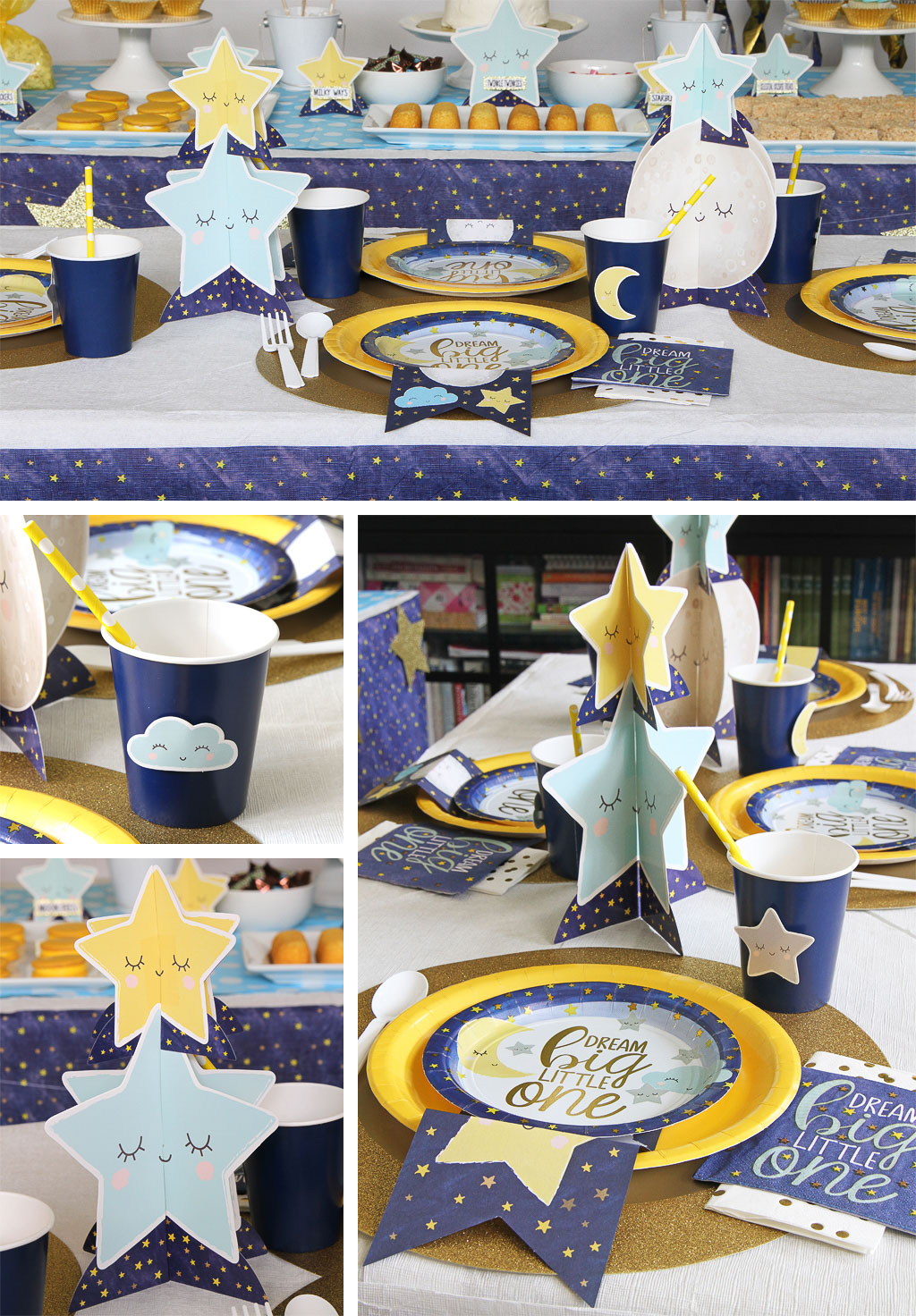 Twinkle First Birthday Place Settings
