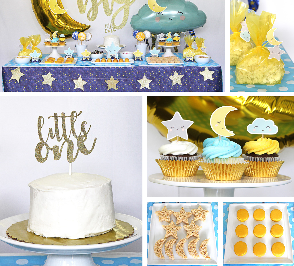 Twinkle First Birthday Food Accents