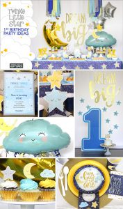 Twinkle First Birthday Party Collage