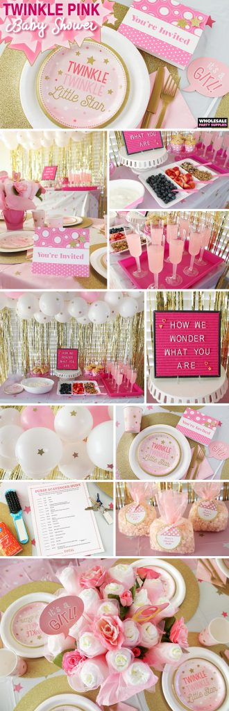 Twinkle Twinkle Pink Baby Shower Pinterest Guide