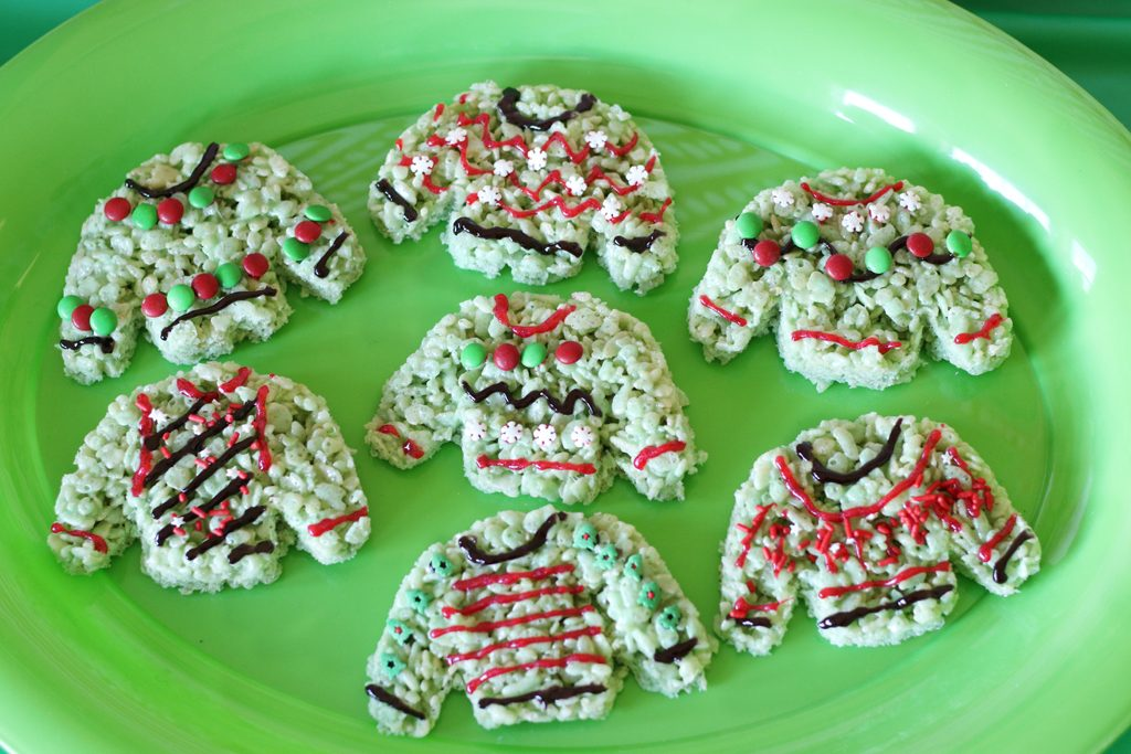Ugly Sweater Holiday Party Rice Crispies