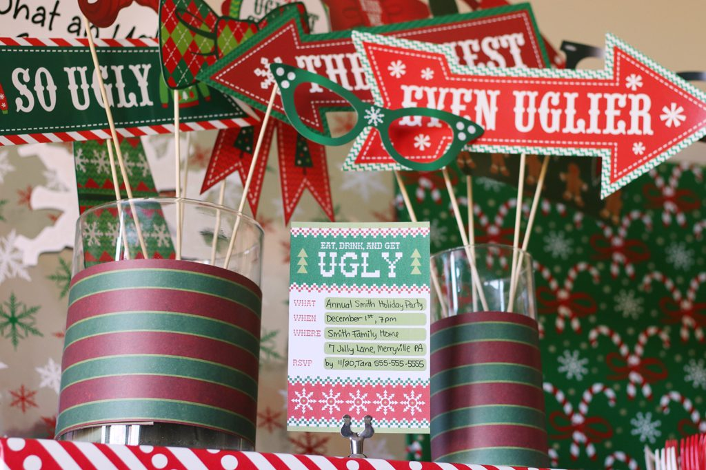 Ugly Sweater Holiday Party Ideas Invitations