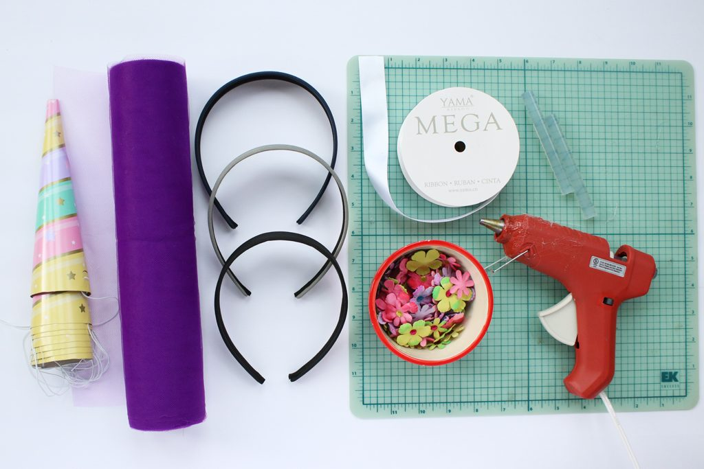 DIY Unicorn Horn Headband Supplies