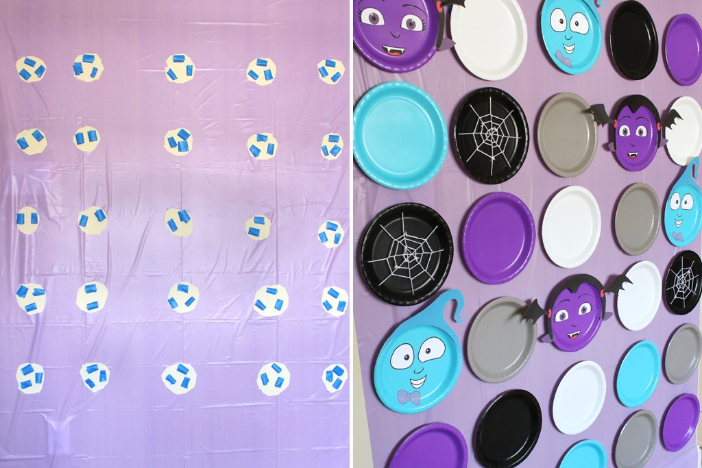 DIY Vampirina PhotoBackdrop Step 5