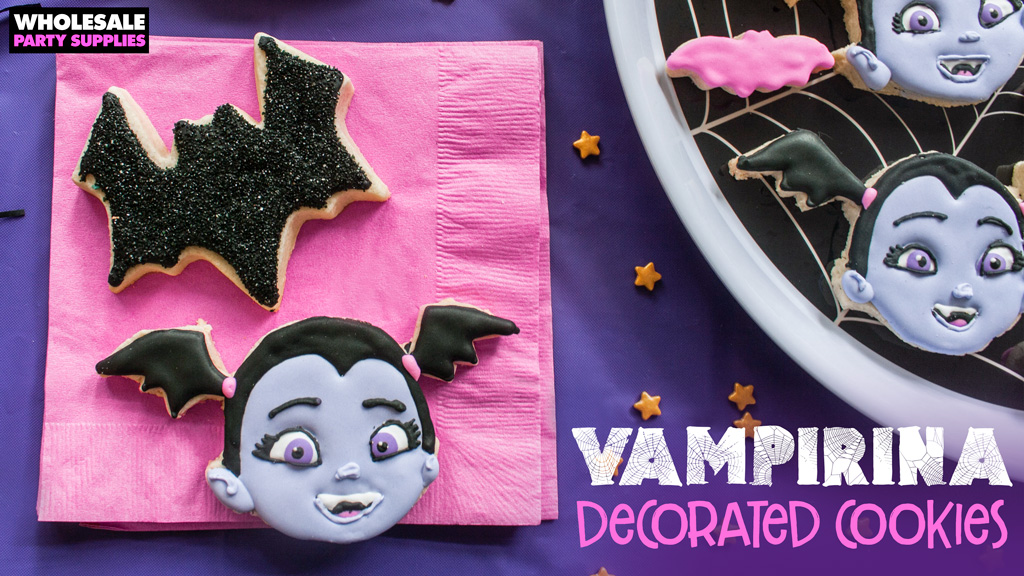 Vampirina Decorated Cookies