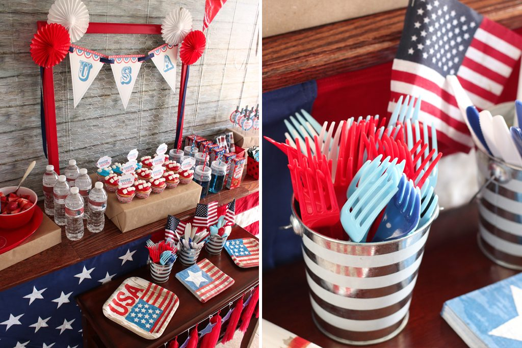Vintage Patriotic Party Table