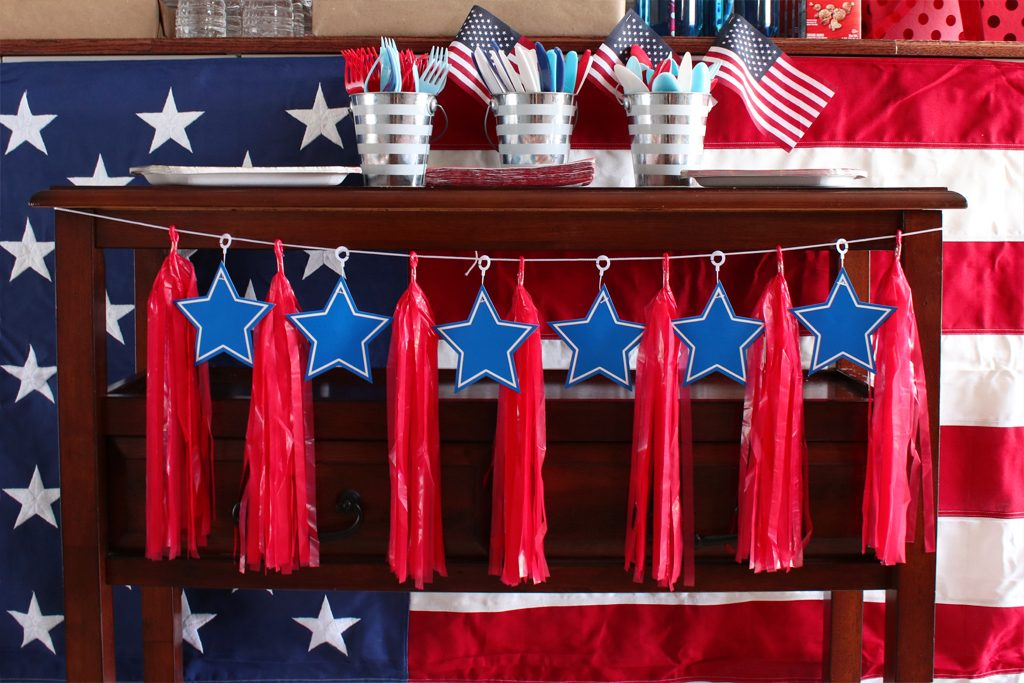Vintage Patriotic Party Decoration Details