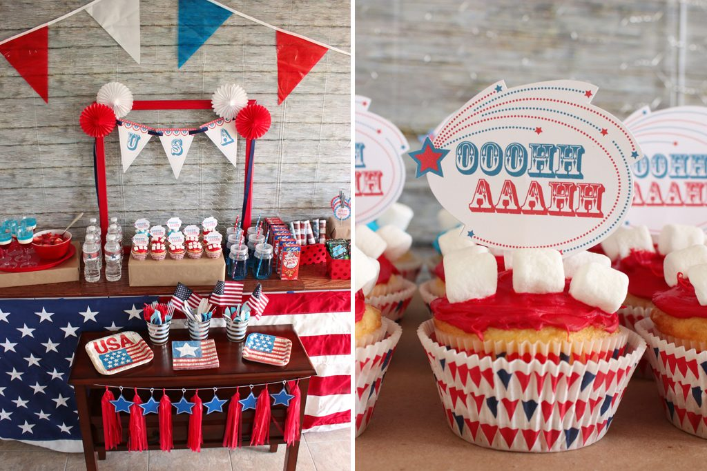 Vintage Patriotic Party Food Ideas