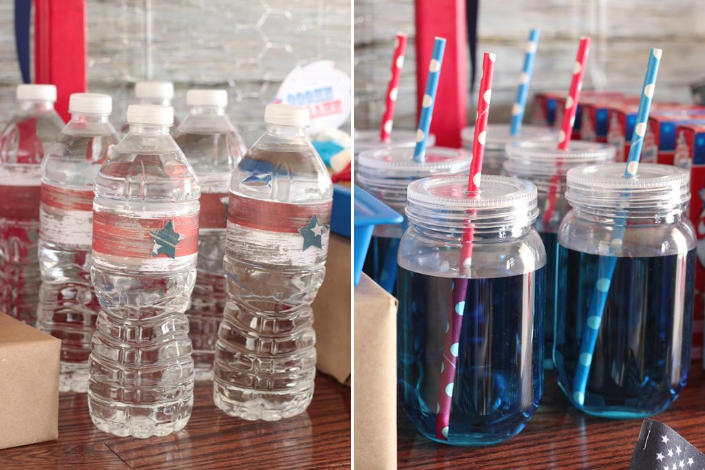 Vintage Patriotic Party Drink Details