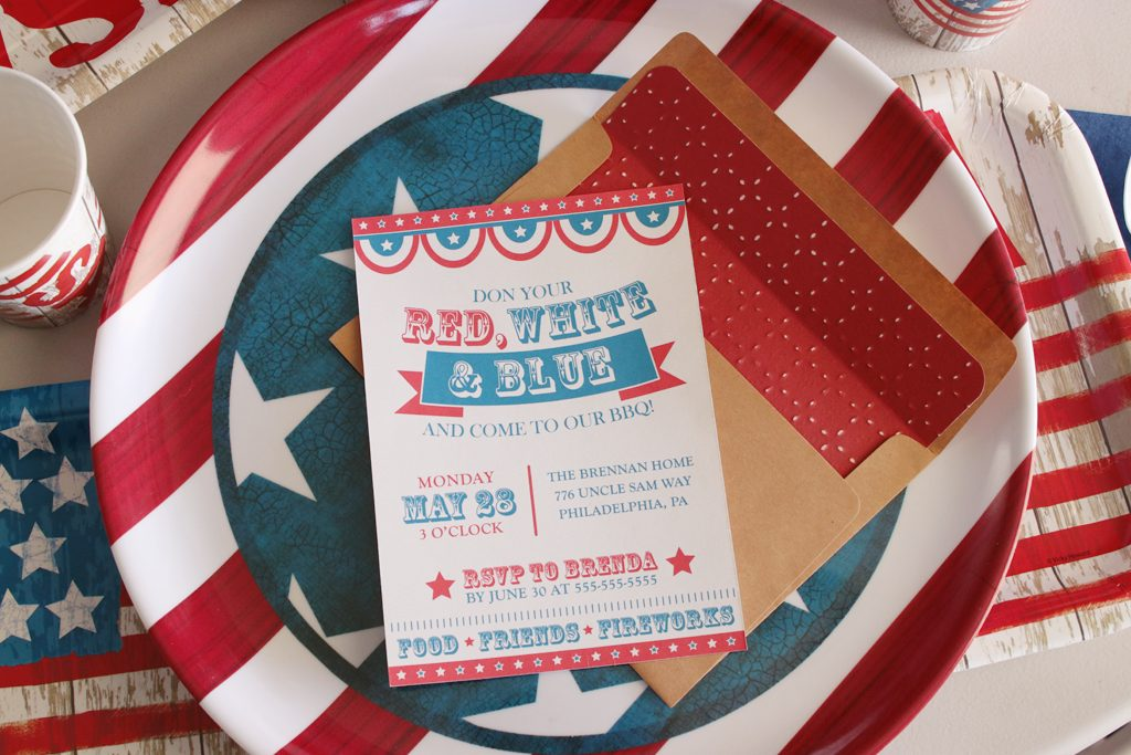 Vintage Patriotic Party Invitations