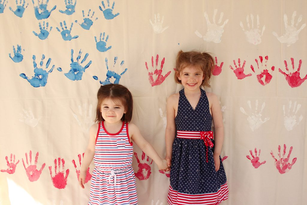 DIY Handprint Flag Banner