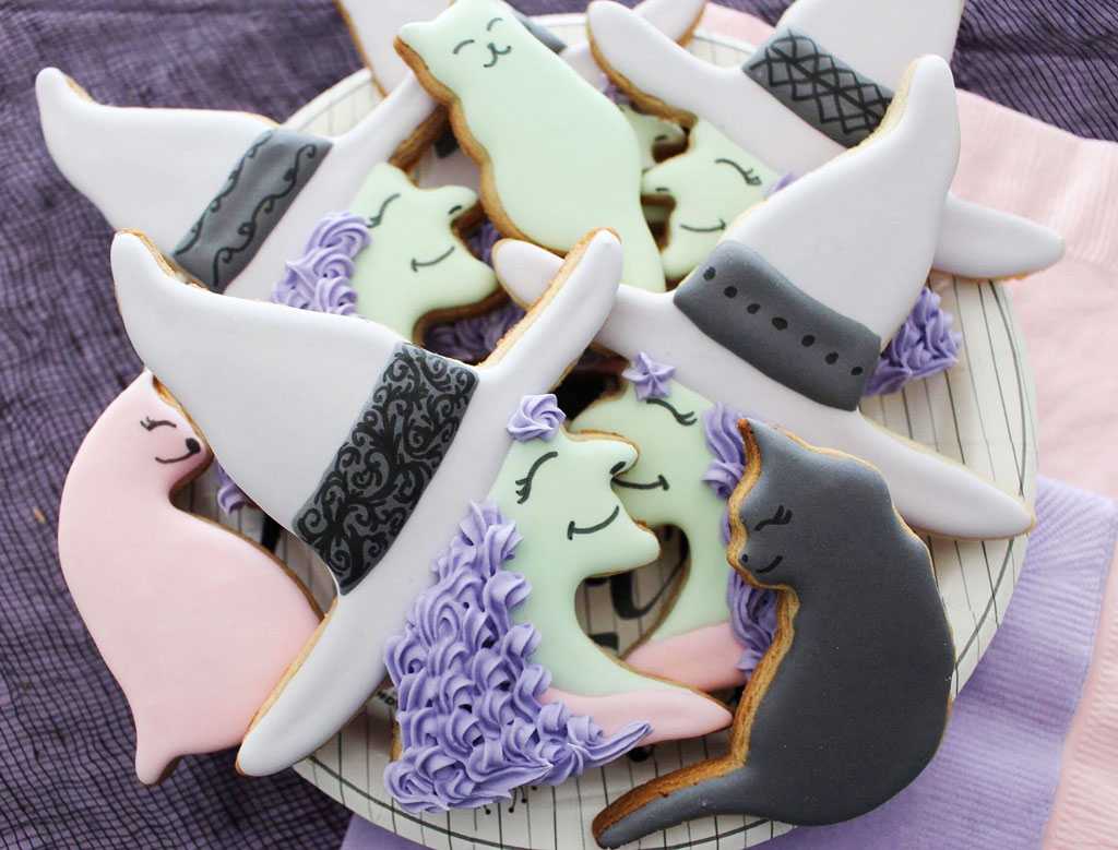 Pastel Witch Decorated Sugar Cookie Tutorial