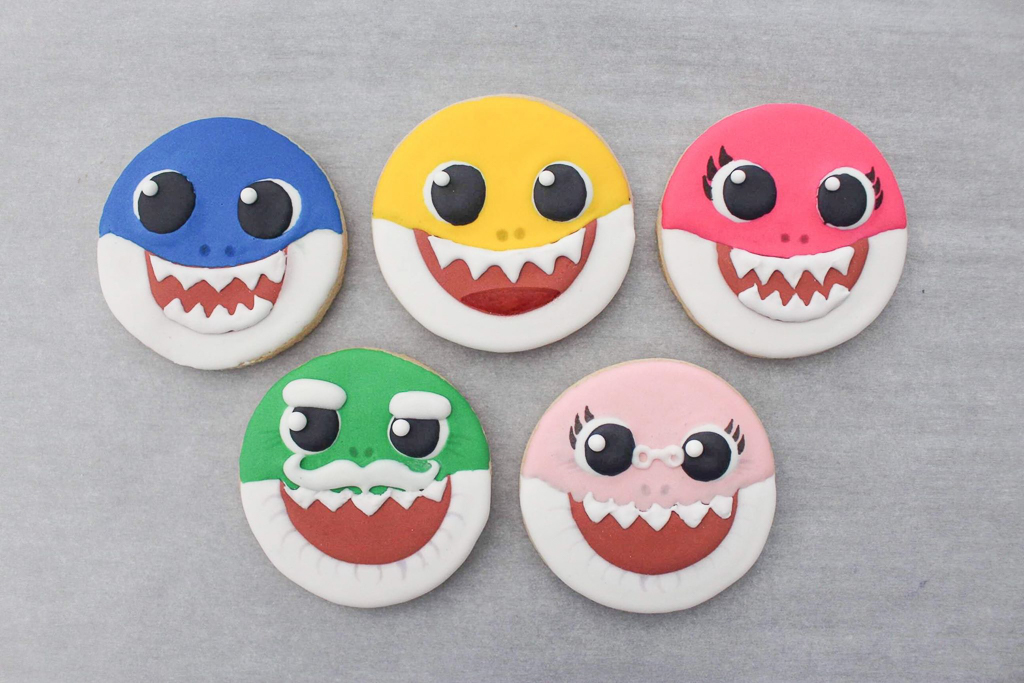 Baby Shark Decorated Cookies