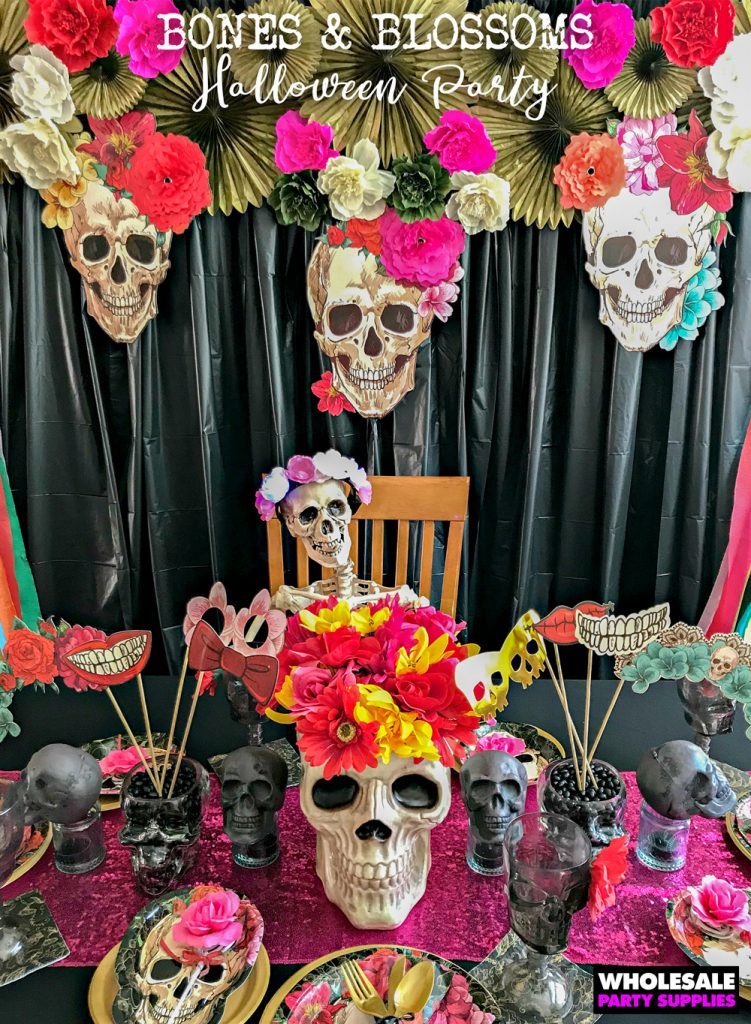 Bones and Blossoms Halloween Party Pinterest Guide