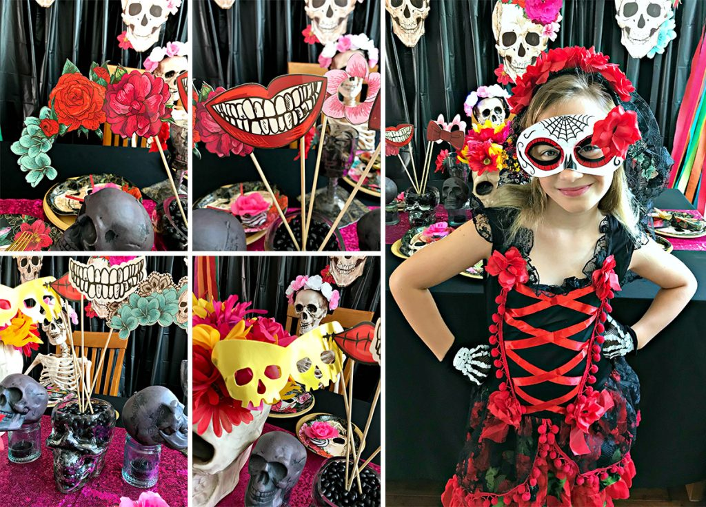 Bones and Blossoms Halloween Party Activities