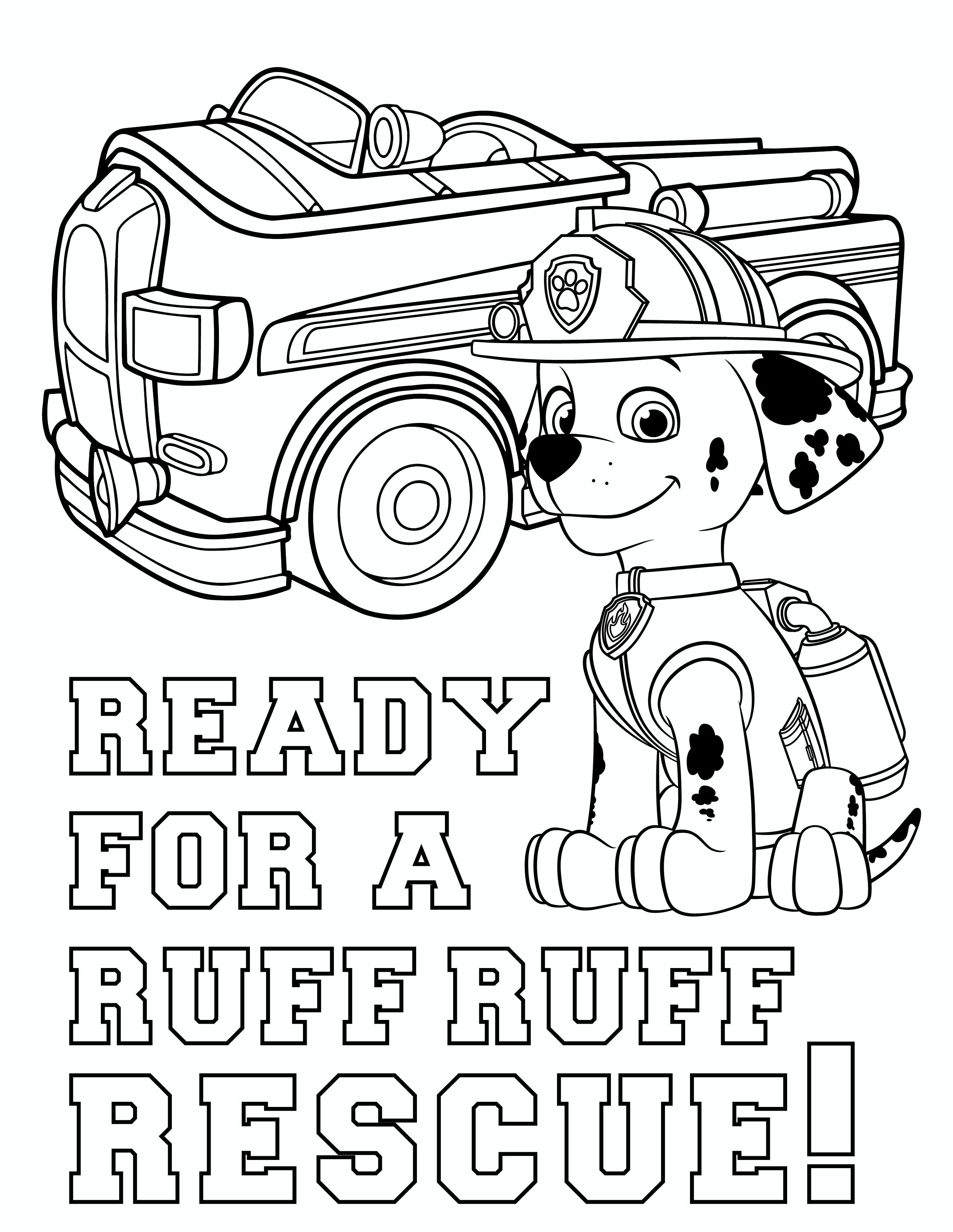 Free PAW Patrol Marshall Coloring Pages
