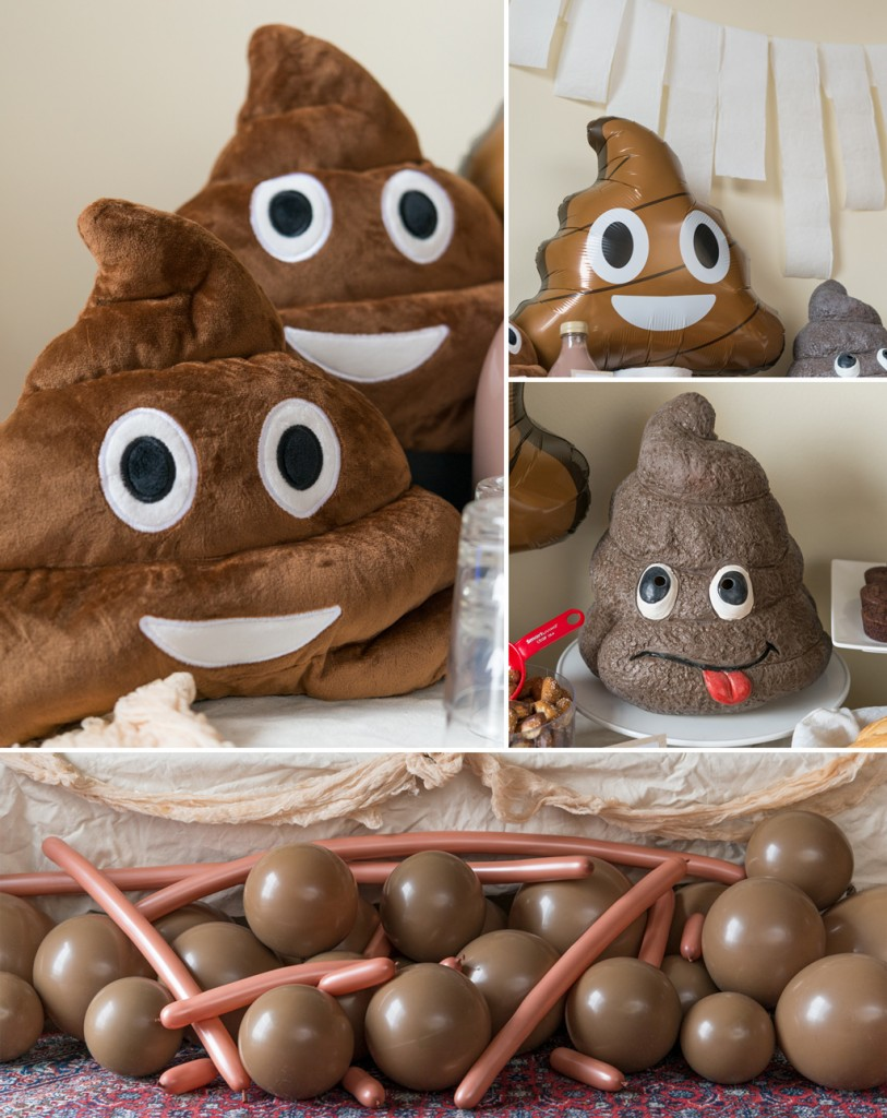 Poop Emoji Decorations for a Party Pooper