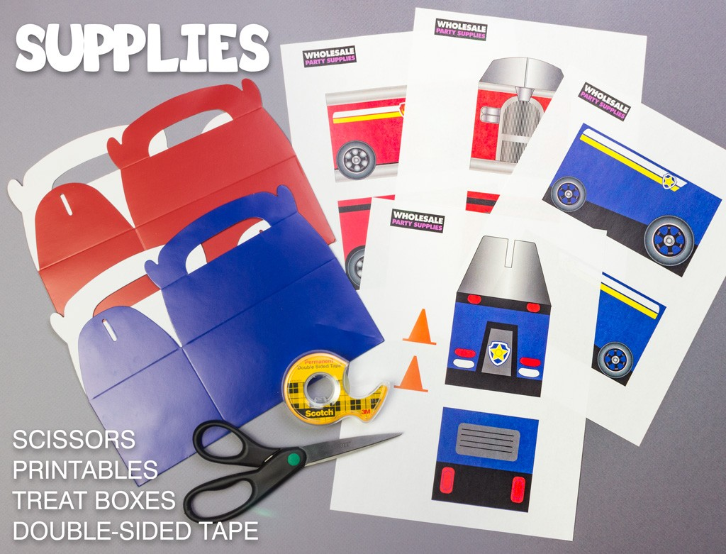 Paw Patrol Favor Box Supplies