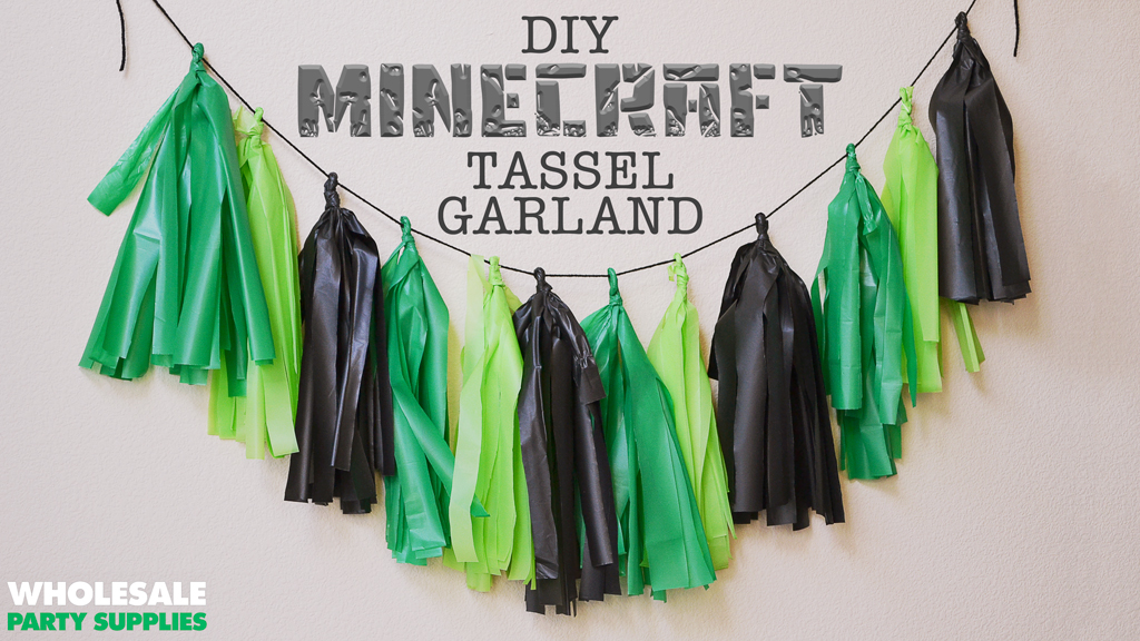 DIY Minecraft Garland