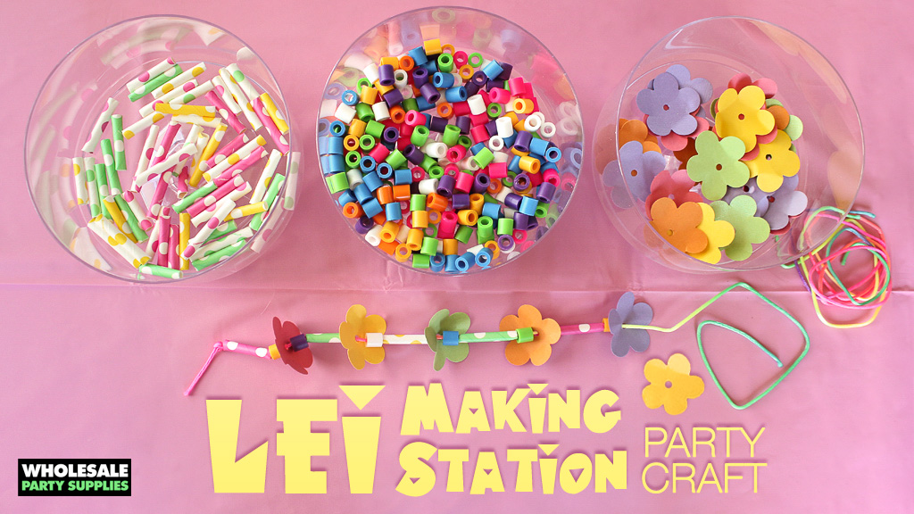 Party Craft Activity – Lei Making Station
