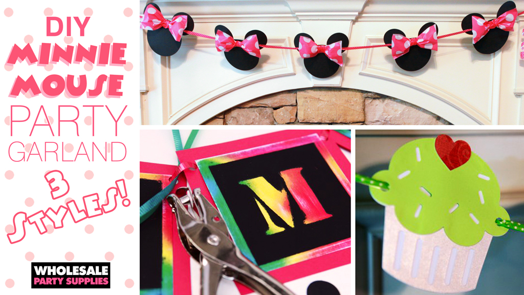 Minnie Mouse Party Garland – 3 Styles