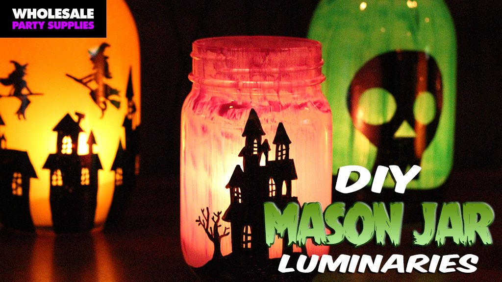 DIY Mason Jar Luminaries + Free Printable Template