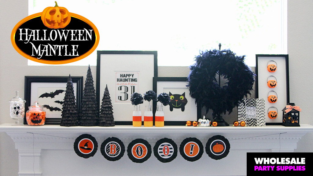 DIY Halloween Mantle