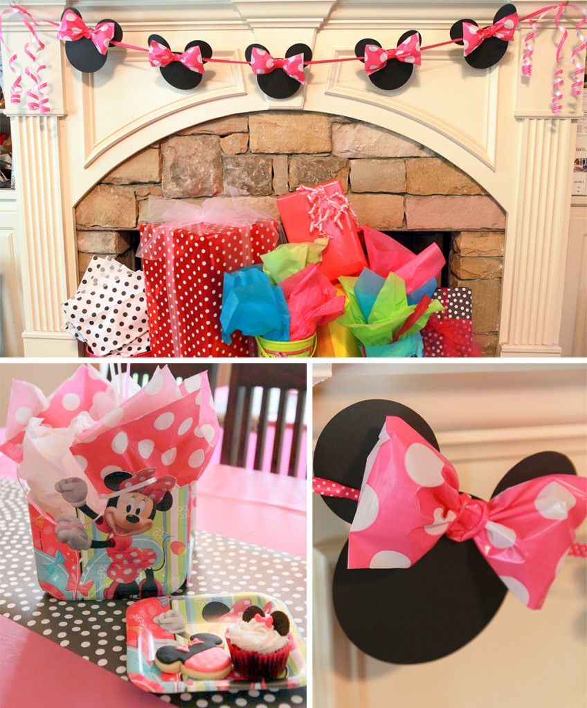 Minnie Mouse Head Banner
