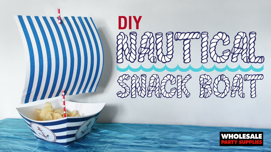 DIY Nautical Snack Boat