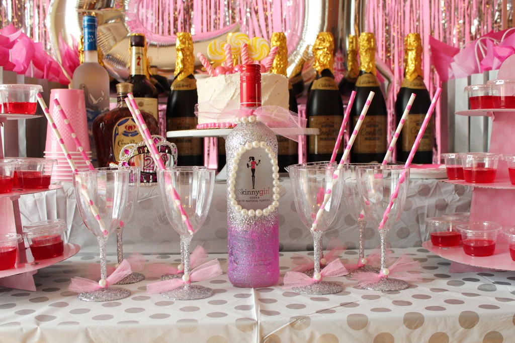21st Birthday Table Close Up