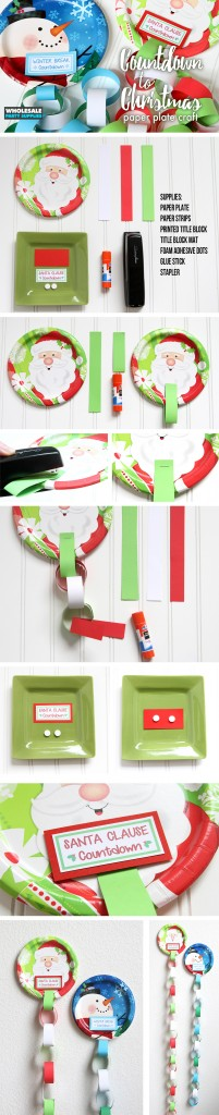 Chistmas Countdown Paper Plate Craft Pinterest Guide