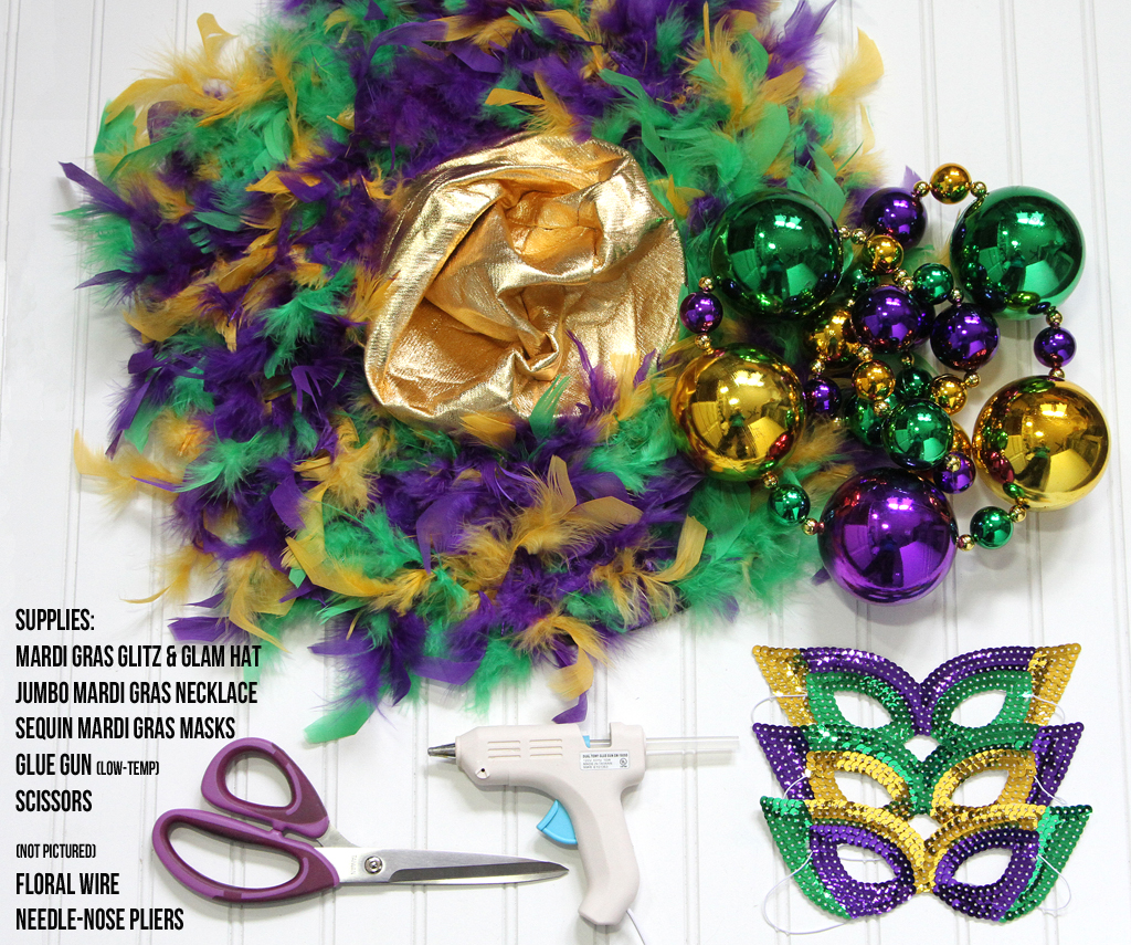 Mardi Gras DIY Wreath Supplies