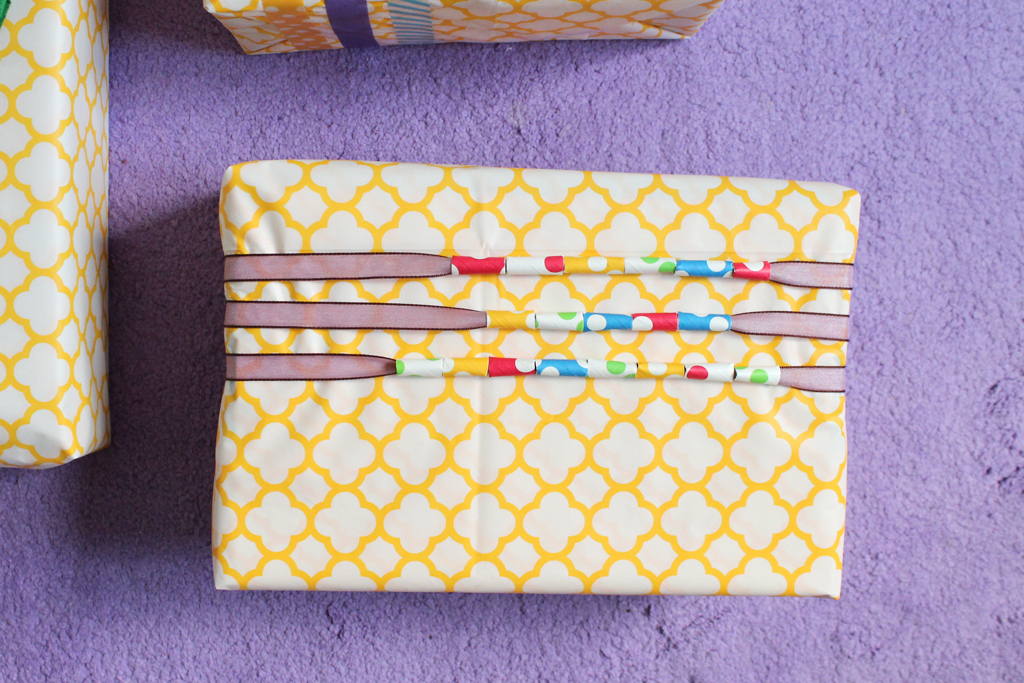 Re-Use Party Supplies as Gift Wrap
