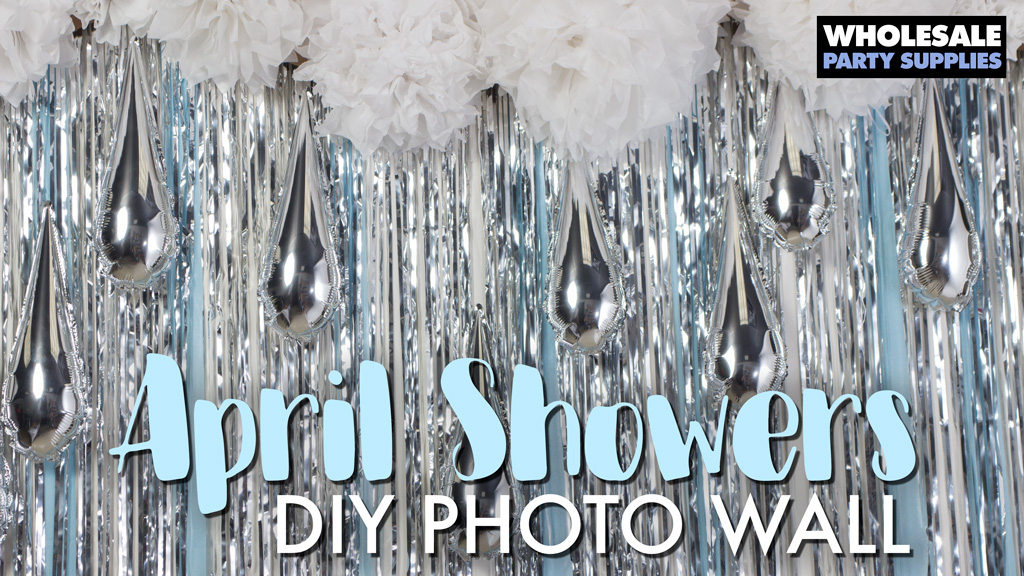 April Showers DIY Photo Booth Backdrop