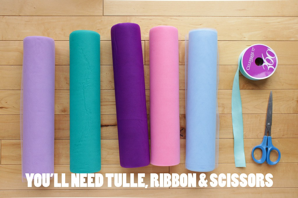 DIY Mermaid Tutu Decoration Supplies