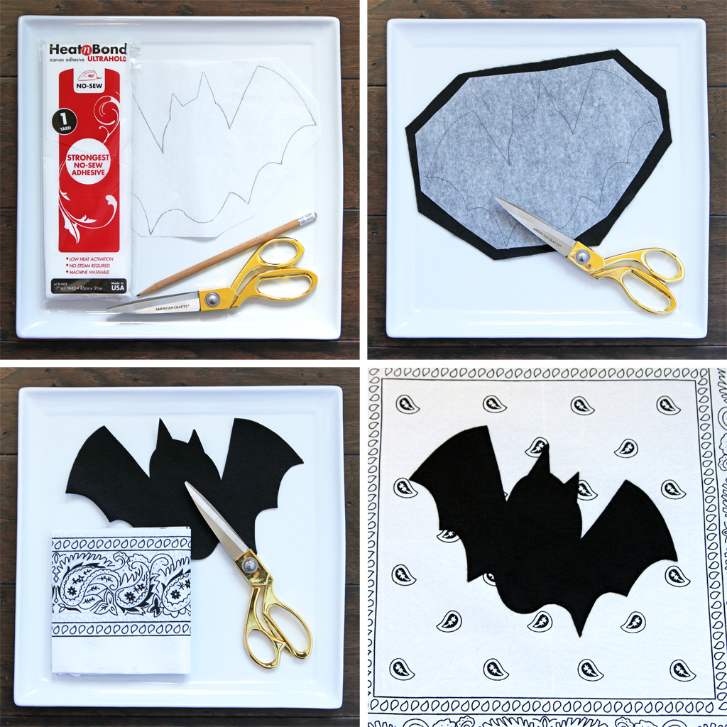 DIY Halloween Pillows Step 1
