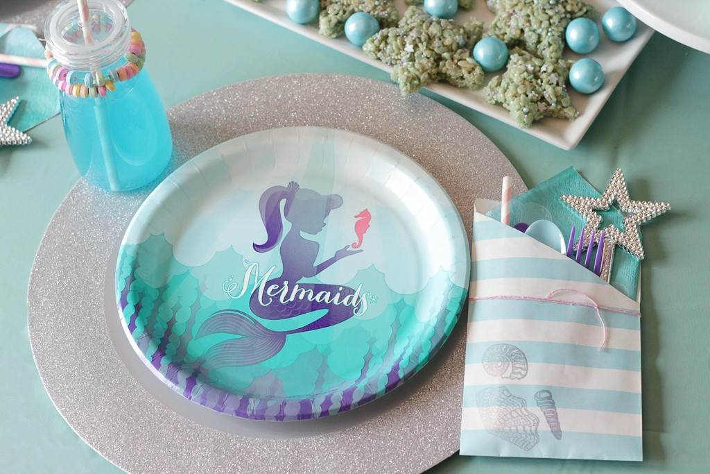 Mermaid Birthday Party Place Setting