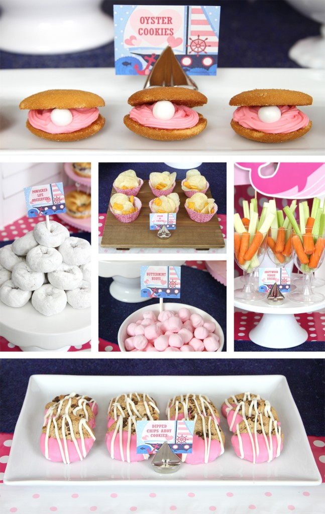 Nautical Pink Baby Shower Food Details