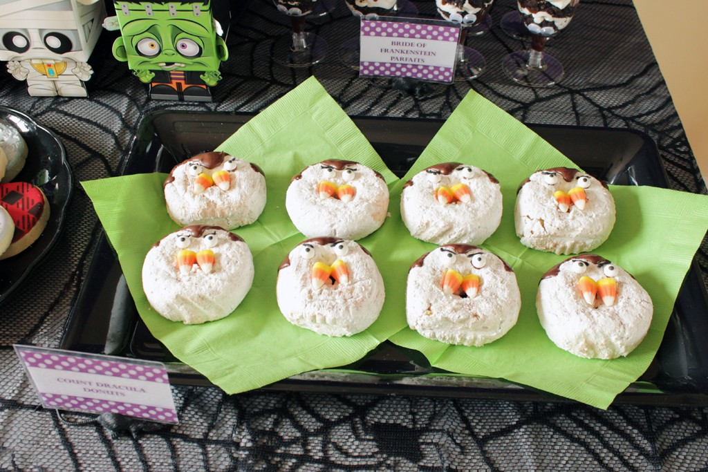 Classic Movie Monsters Halloween Party Donuts