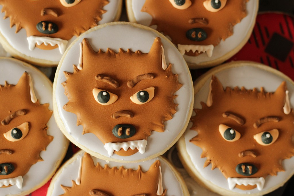 Classic Movie Monsters Halloween Party Wolf Cookies