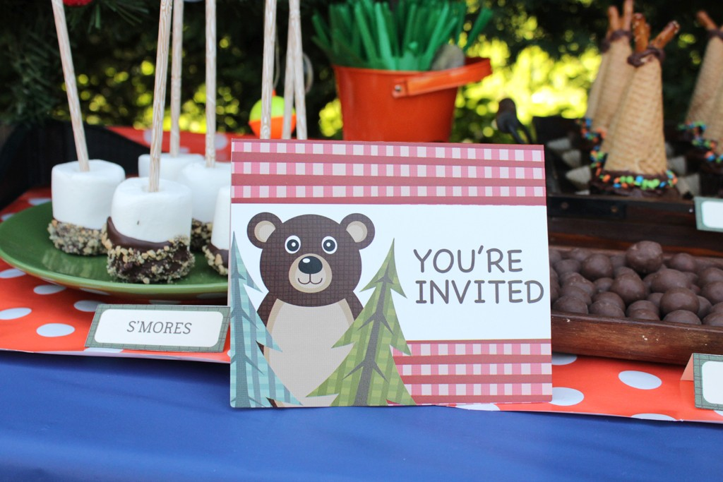 Let's Go Camping Party Invitations