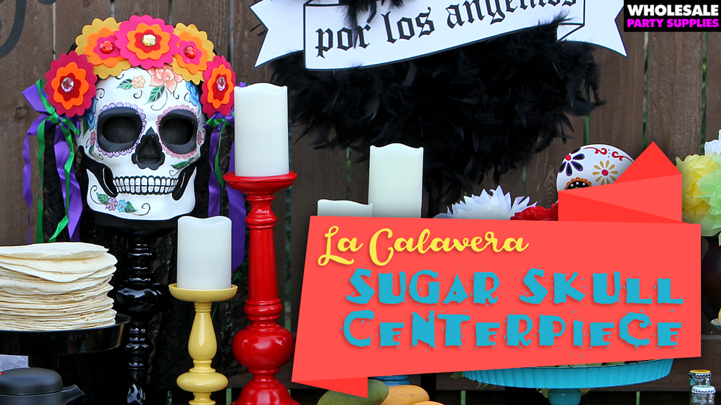 Sugar Skull Centerpiece for Day of the Dead