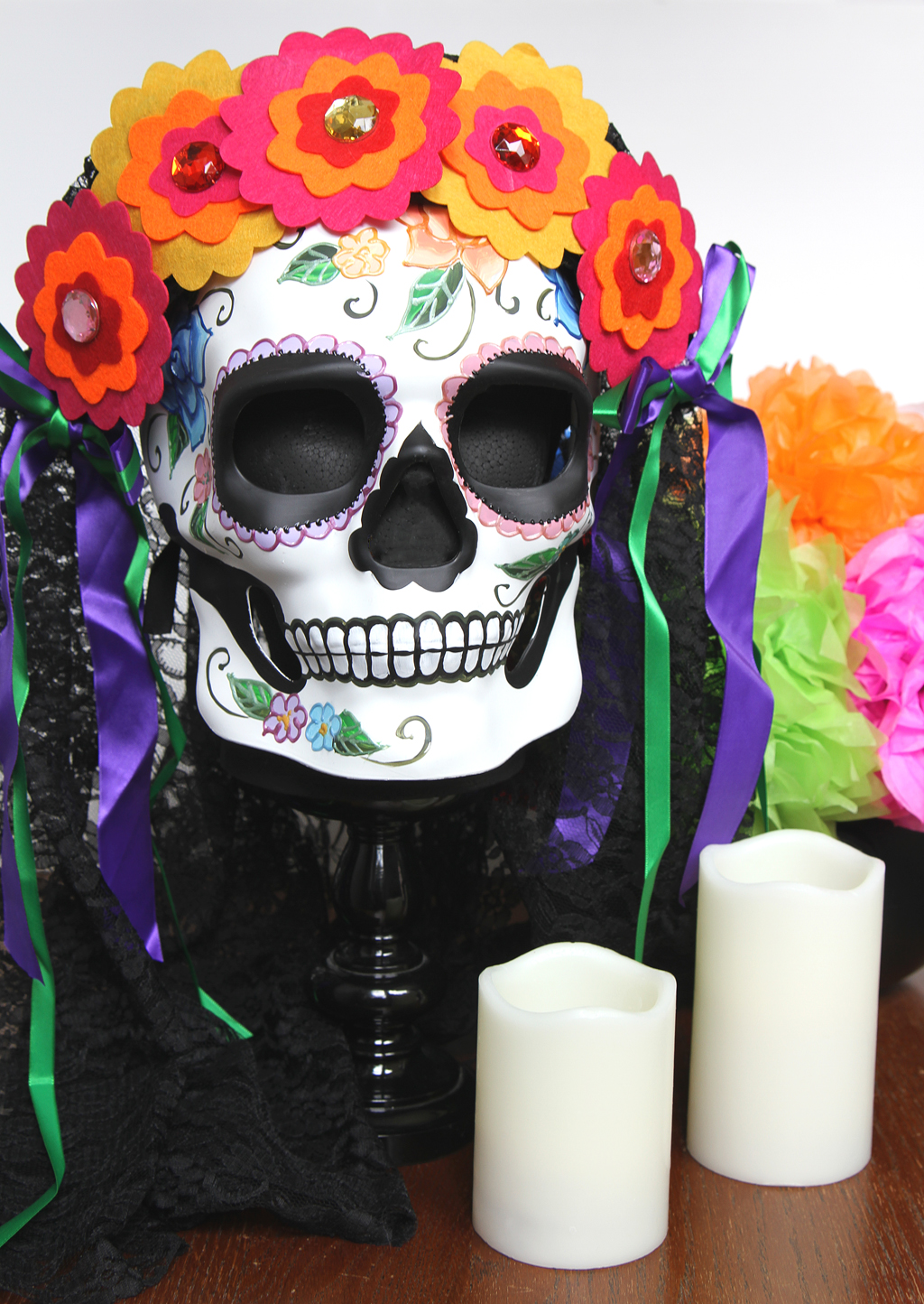 Sugar Skull Centerpiece for Day of the Dead Step 5