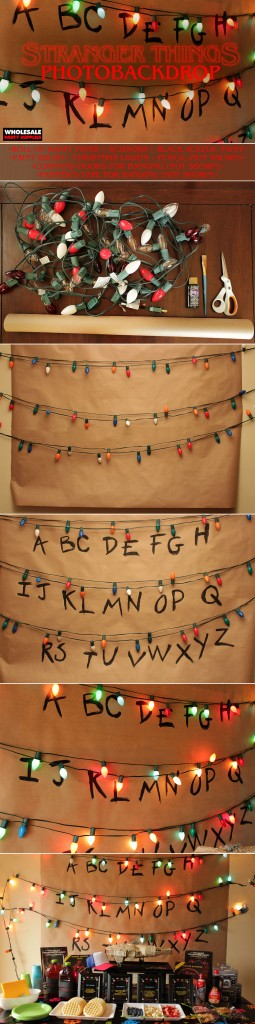 Stranger Things Alphabet Wall Party Backdrop Pinterest Guide